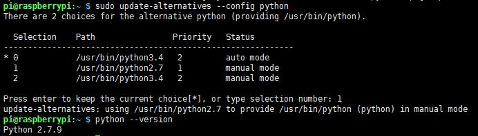 切换python版本