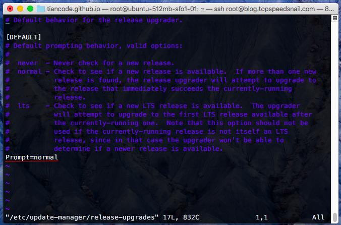Ubuntu 16.04 update