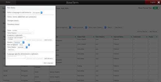 Brigham Young University's BaseTerm tool