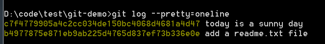 git log pretty=oneline