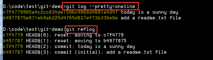 log 与 reflog 的区别