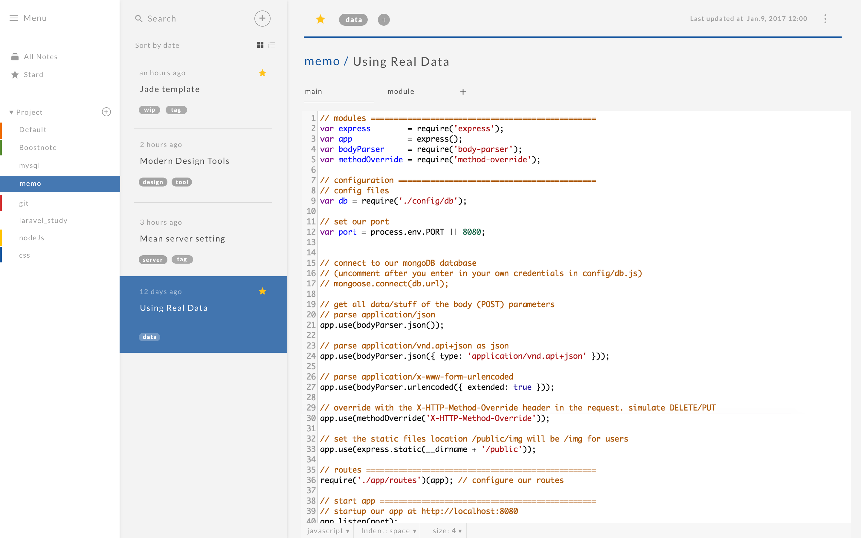 Markdown 笔记编辑器 Boostnote