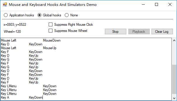 c#(winform)模拟键盘按键和鼠标点击操作类库