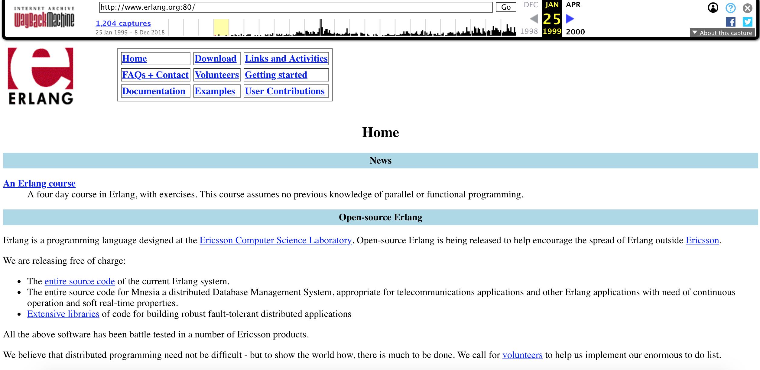 [中英对照]1998-2018,Erlang 编程语言开源20周年