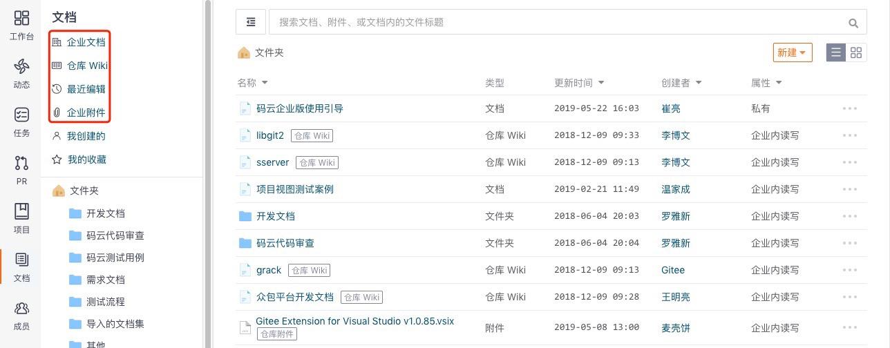 码云六周年系列更新第一弹 —— 企业知识库管理改版-Gitee 官方博客
