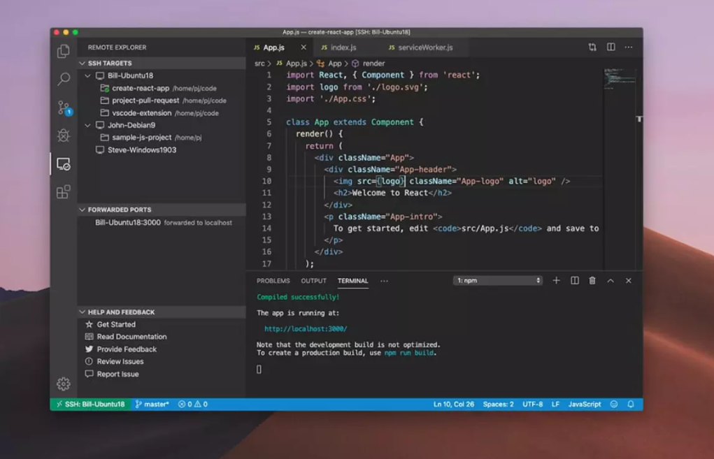 Facebook 默认开发环境采用 VS Code
