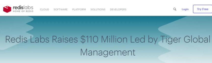Redis Labs 获 1.1 亿美元融资,估值超 20 亿美元