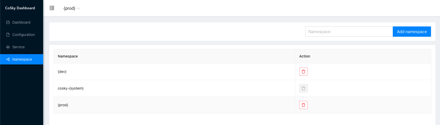 dashboard-namespace