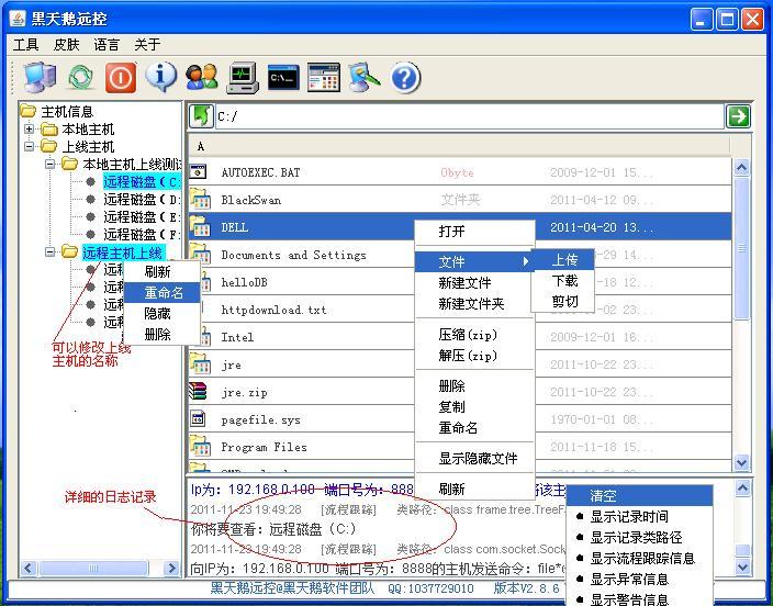 黑天鹅远控软件示例图片