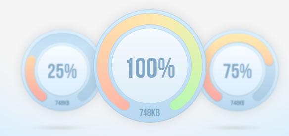 jQuery Percentage Loader