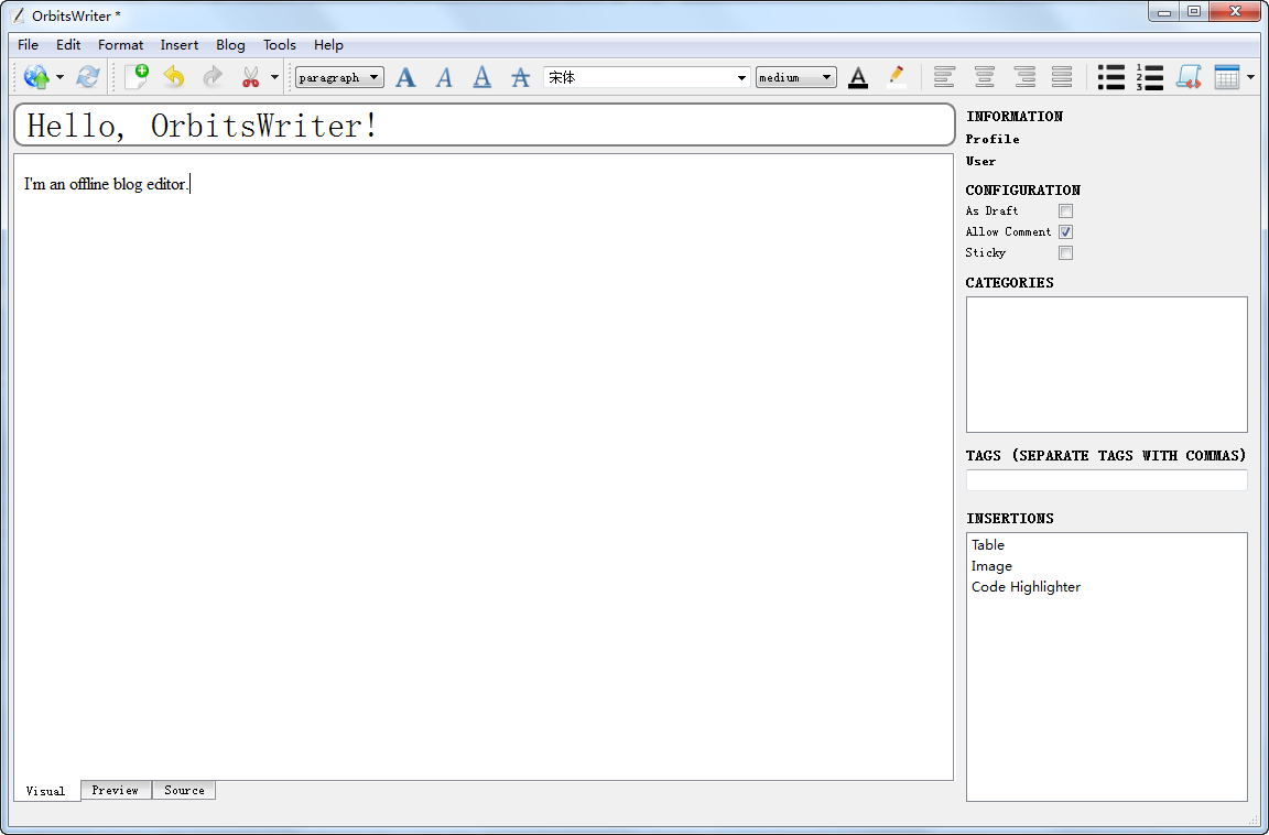 OrbitsWriter 界面