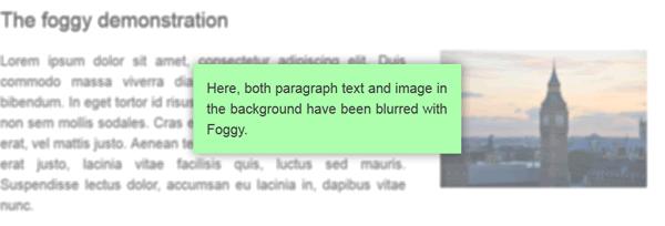jQuery的网页模糊化插件 Foggy
