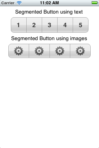 Segmented Buttons