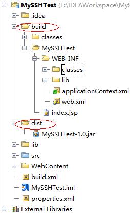 使用Ant构建SSH项目(Intellij IDEA版)...