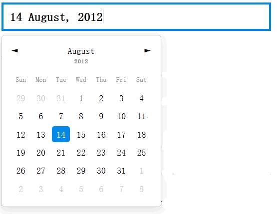 jQuery 日期选择插件 pickadate.js