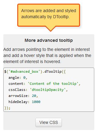 jQuery 工具提示插件 DTooltip