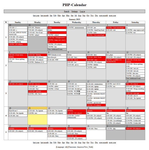 PHP-Calendar
