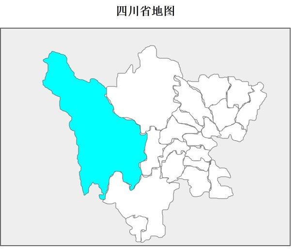 四川省地图(svg)——diy图片