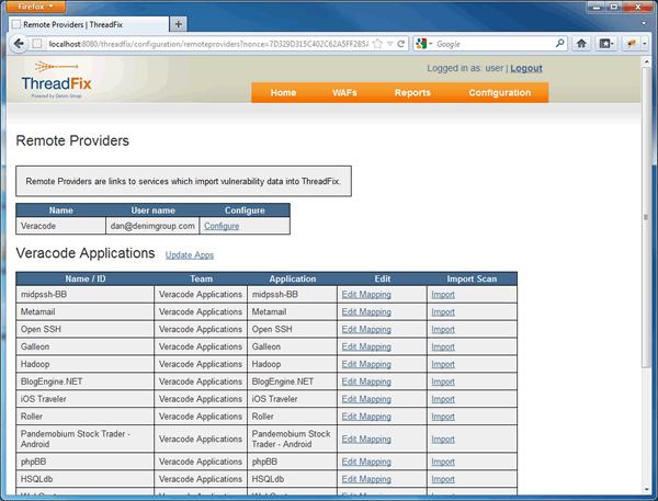 软件漏洞聚合和管理系统 ThreadFix