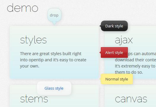 JavaScript 提示框插件 Opentip