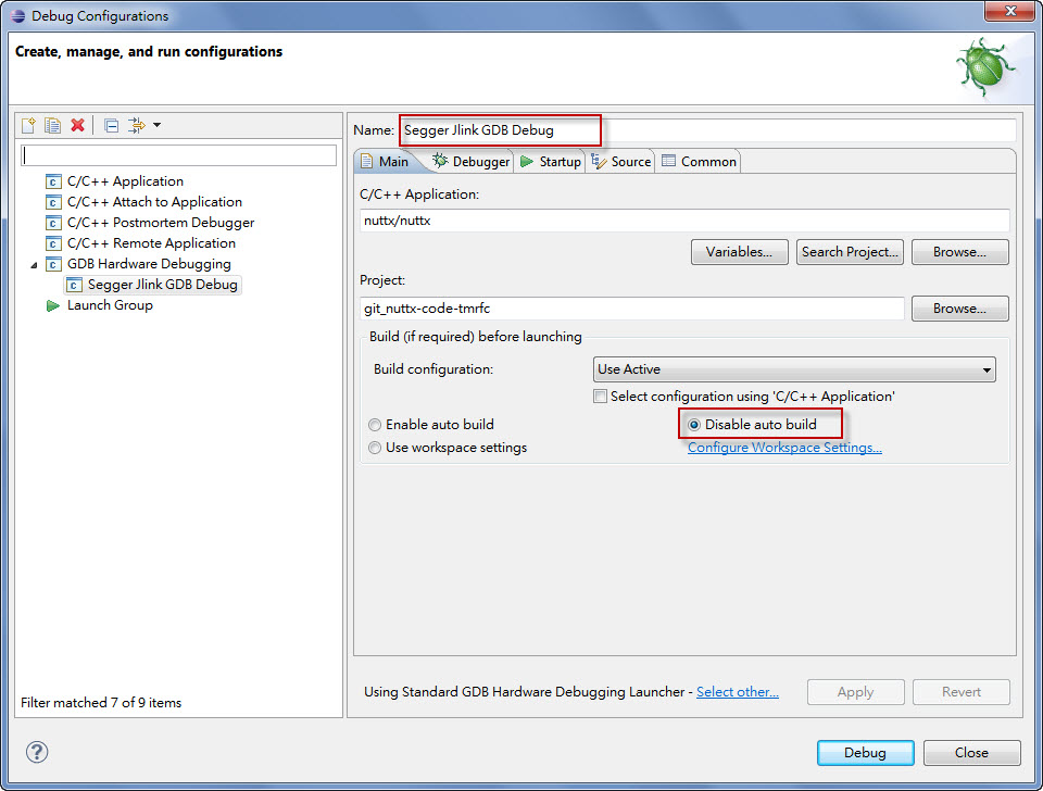 Eclipse 環境中的 NuttX 編譯和除錯- cctsao1008的个人空间- OSCHINA
