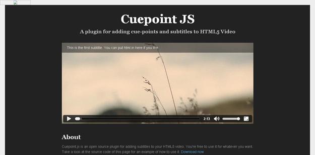 Cuepoint JS