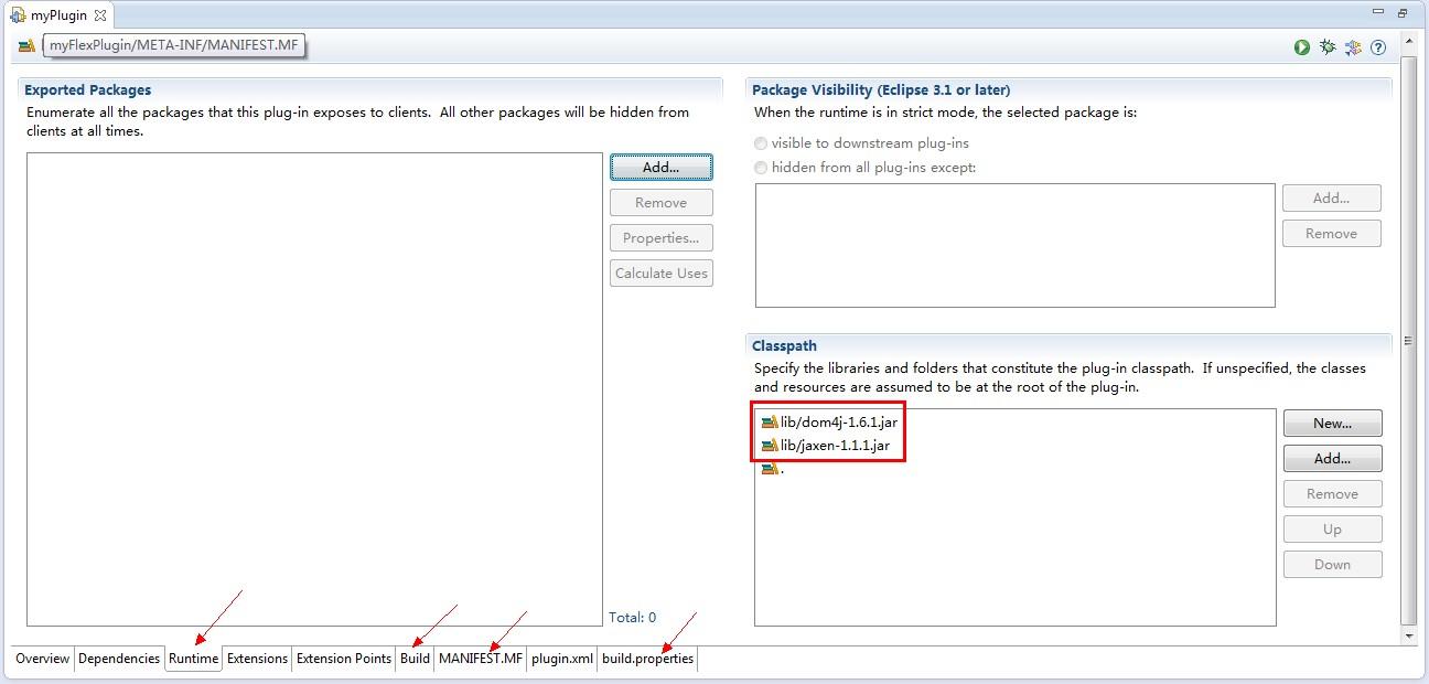 做Eclipse插件时遇到错误,java lang NoClassDefFoundError