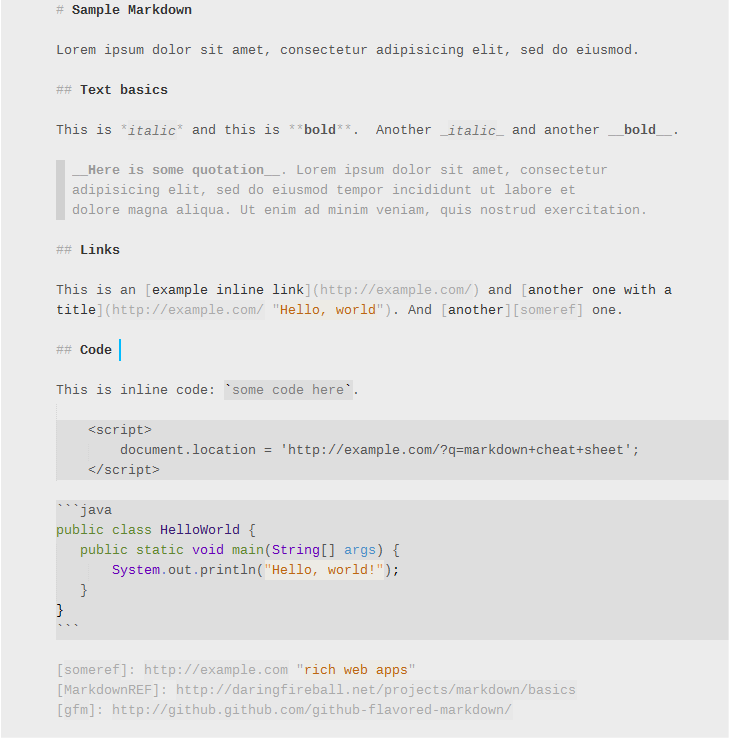 Markdown plugin for Sublime Text