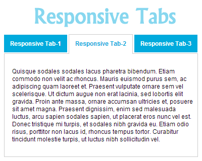 jQuery Responsive Tabs