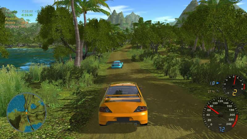 开源赛车游戏 Stunt Rally