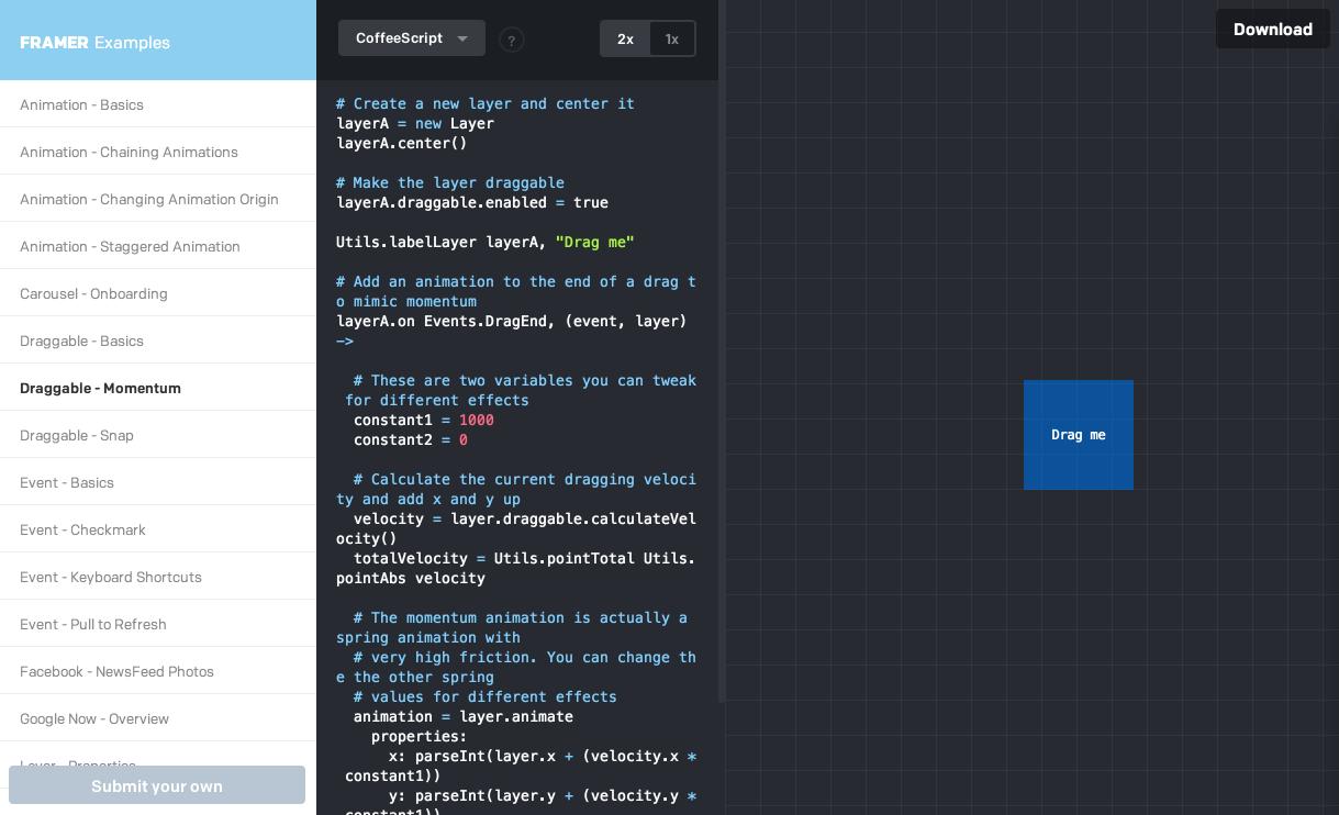 开源原型设计工具 Framer