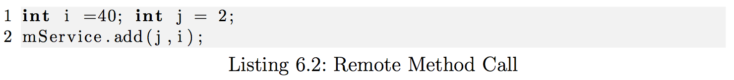 Remote Method Call