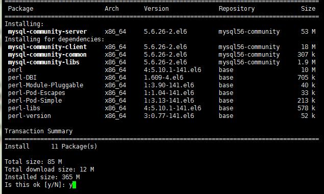 Centos6.5下通过 yum 方式安装 MySQL5.6.26...
