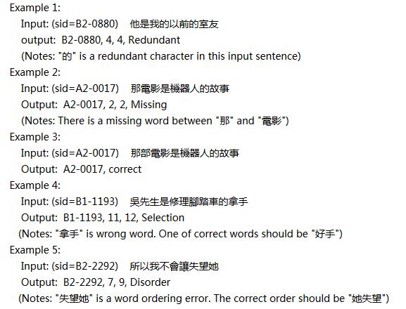 中文语法纠错