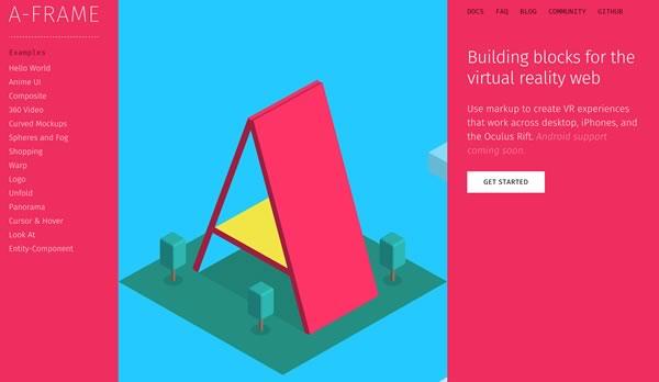 web 虚拟现实框架 A-Frame