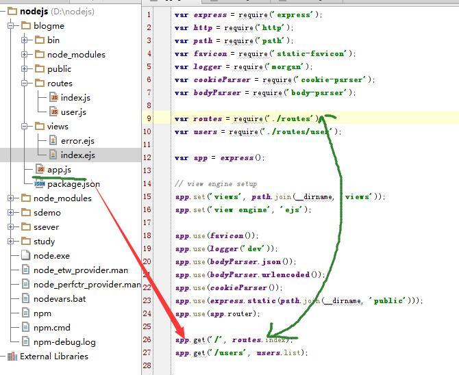 开始nodejs+express的学习+实践(2) - 透笔度(tbd)个人页面