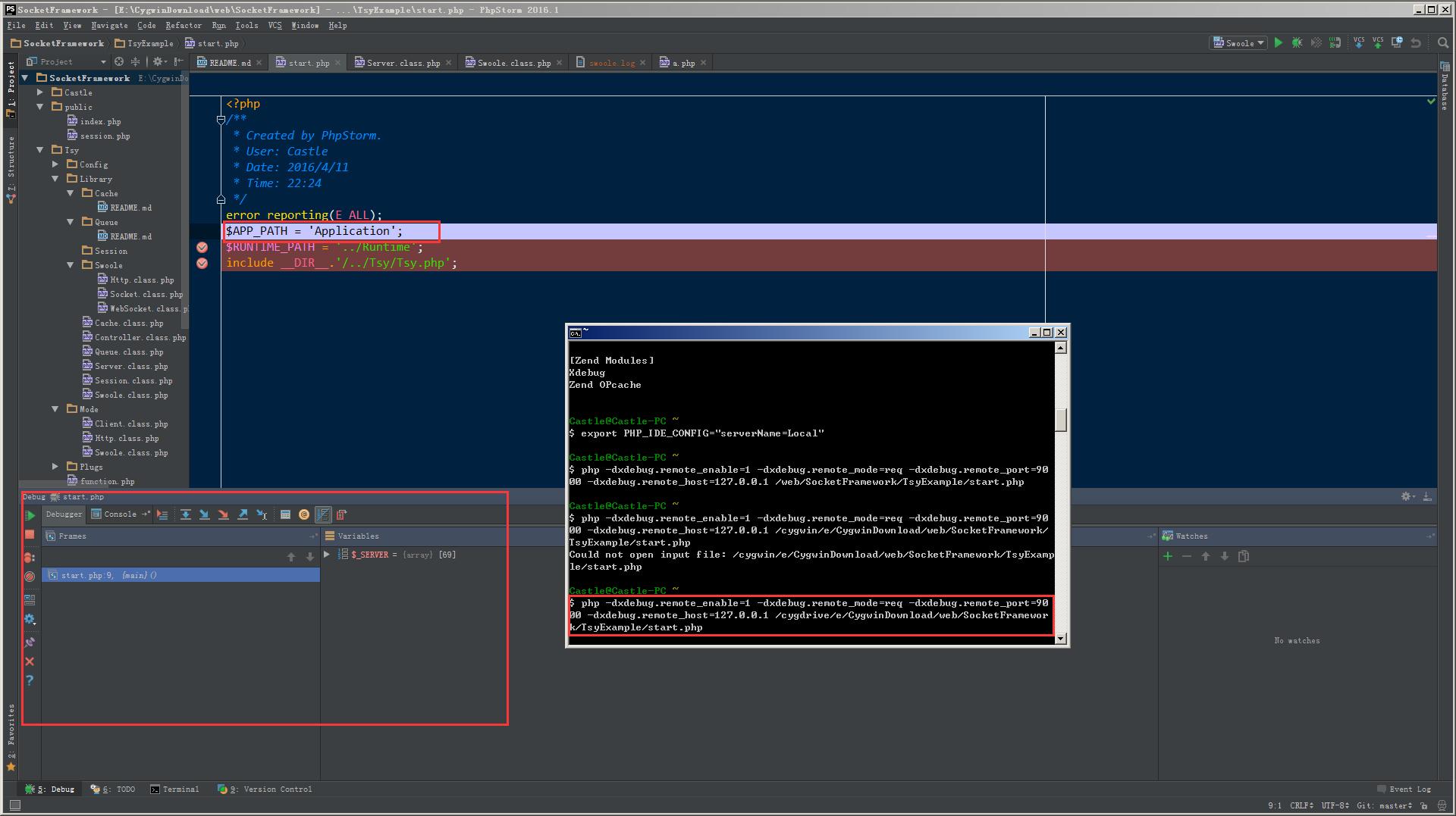 装Linux PHP环境和Swoole扩展并在PHPStorm中调试