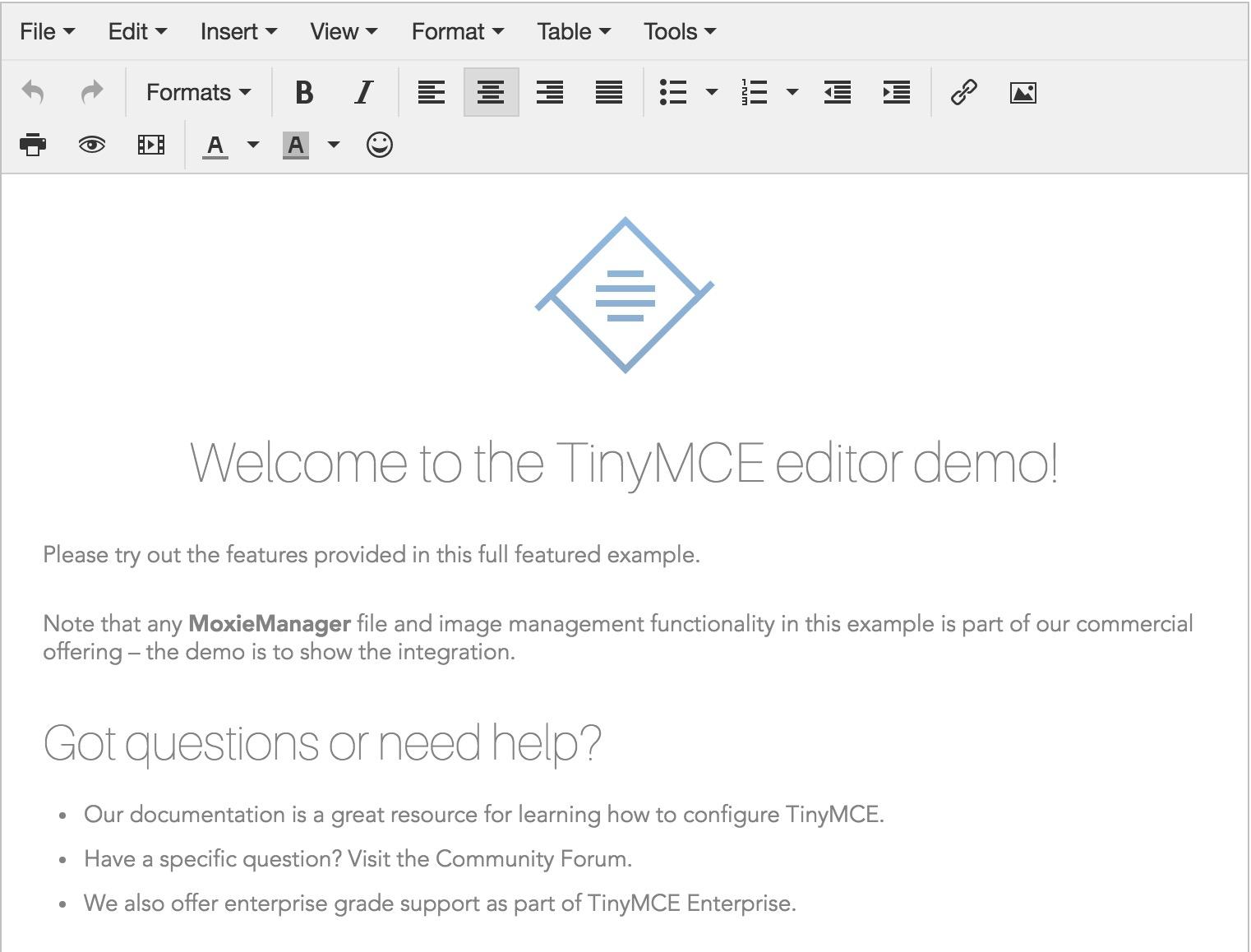 TinyMCE 4.7.6 发布,可视化 HTML 编辑器