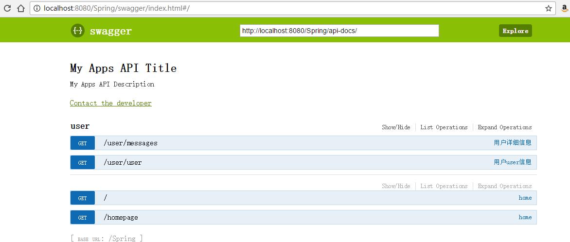 Spring 4 学习笔记-SpringRestFull接口整合Swagger - TomXiao的个人空间