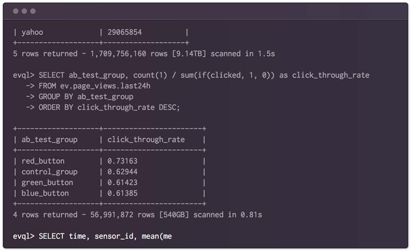 分布式列数据库 EventQL