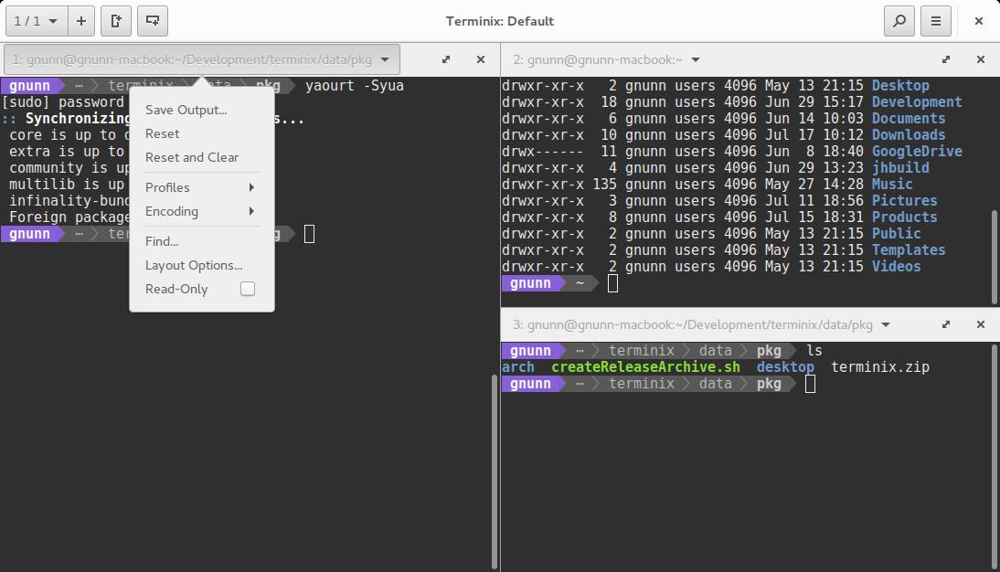Linux 平台终端模拟器 Terminix