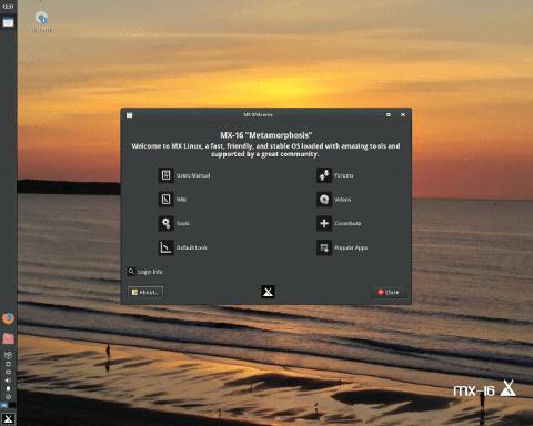 基于 Debian 面向桌面的 Linux 发行                                              MX Linux