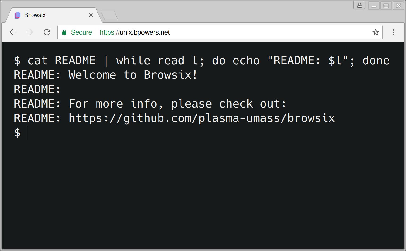 浏览器中的类 Unix 操作系统 Browsix