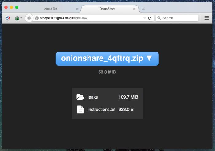 安全可靠的匿名文件分享工具 OnionShare