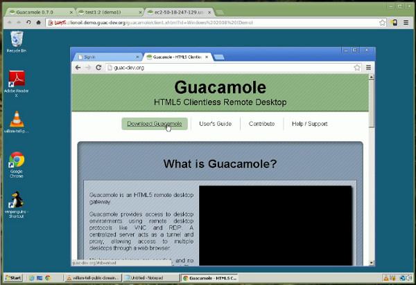 基于 Web 的 VNC 客户端 Guacamole
