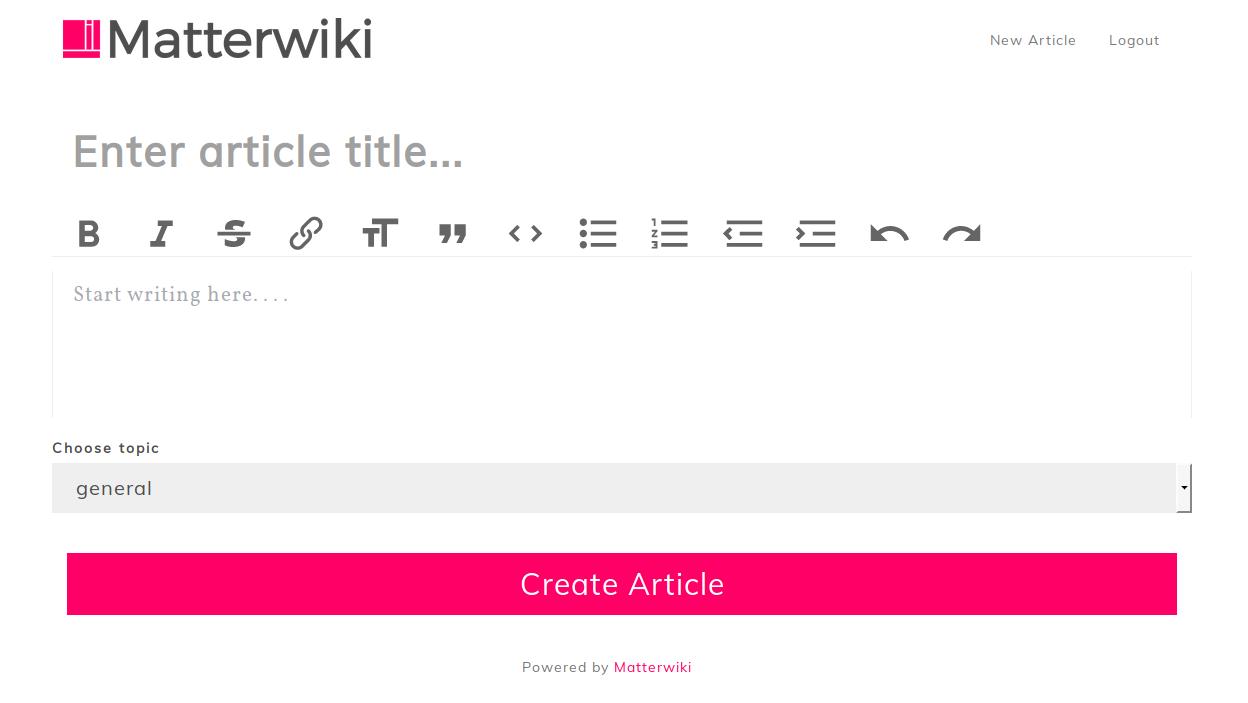 Wiki Matterwiki协同系统