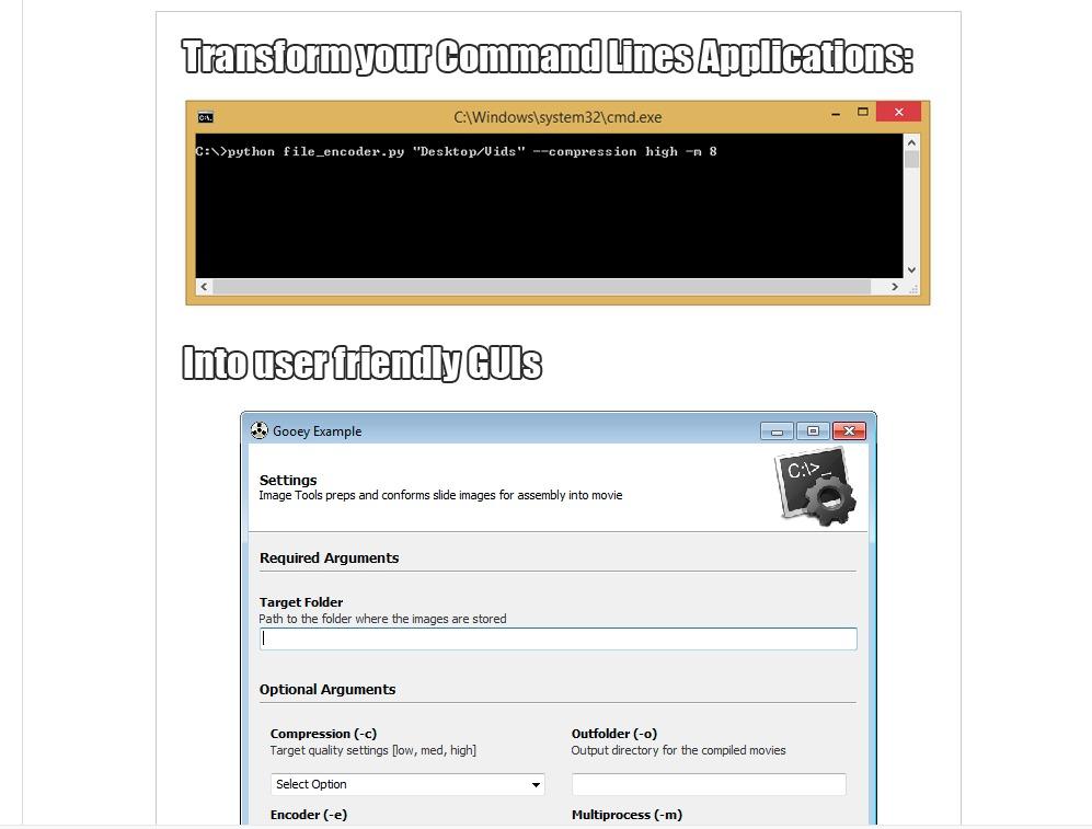 命令行程序转 GUI 程序 Gooey