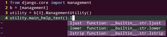 Python 自动补齐和静态分析工具 Jedi