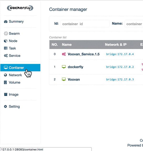 Docker 的 Web 管理工具 DockerFly