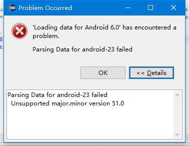 """解决问题""""Parsing Data for android-23 failed ..."""